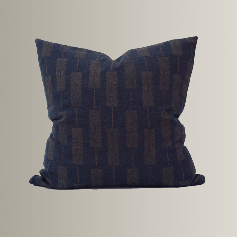 Quincy in Brown on Black Pillow Cover