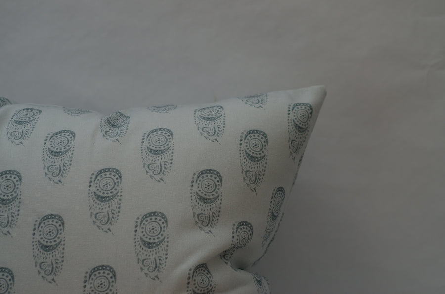 Sadie Pillow Cover in Grey on Grey