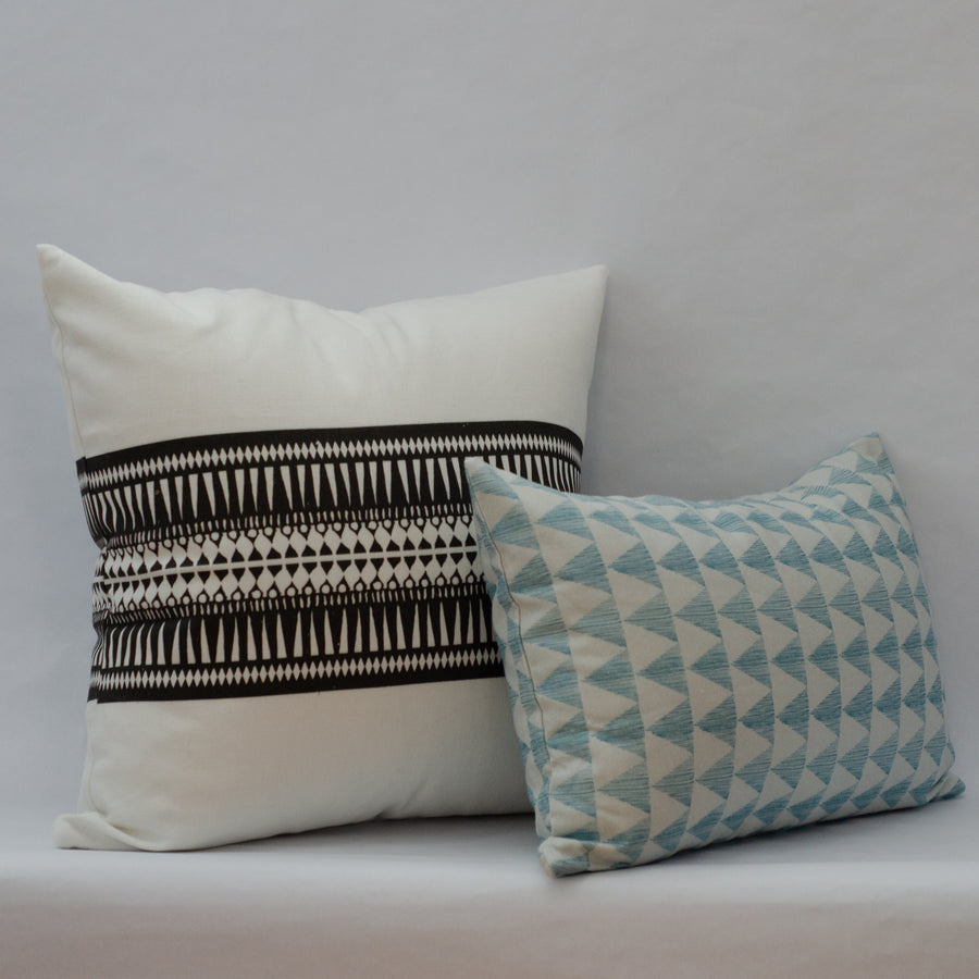 Columbus in Baby Blue Cushion Cover