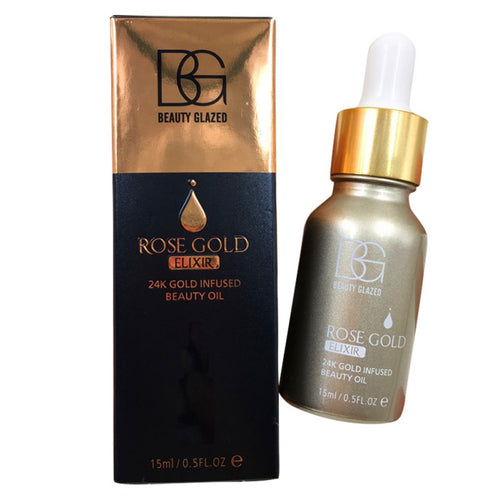 24k Rose Gold Elixir Moisturizer Facial Care Essential Makeup Primer Serum Lasting Oil Control
