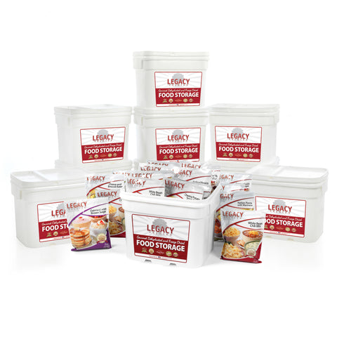 Legacy Premium Long Term Food Storage 1080 Serving Emergency Survival Dried Meal