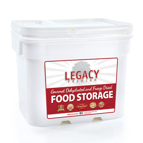 Legacy Premium Food Storage Emergency Survival Food 60 Servings Bucket EB0060