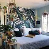 Jungle Green Leave Tropical Tapestry