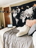 Black Map Wall Tapestry