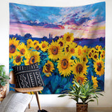 Blue-Field-Sunflower-Tapestry-Wall-Hanging