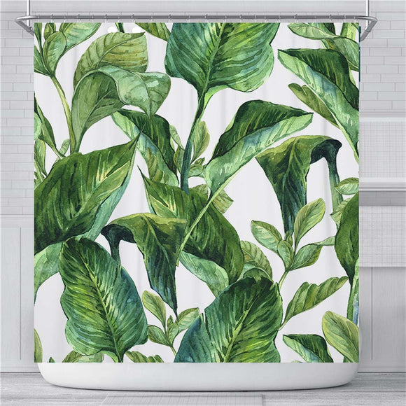 Tropical Leave Shower Curtain