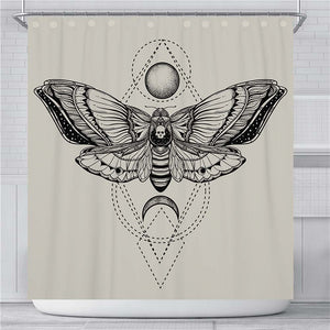 Moth Shower Curtain