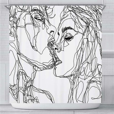 Kissing Shower Curtain