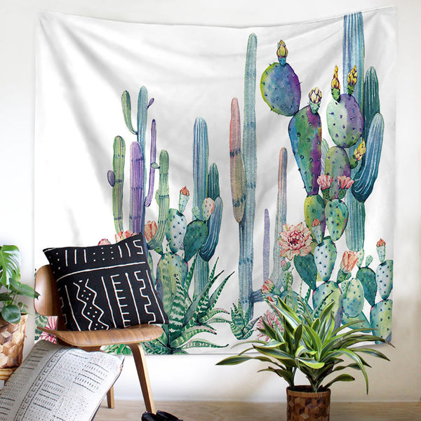 Cactus-Wall-Tapestry-Tropical-Art