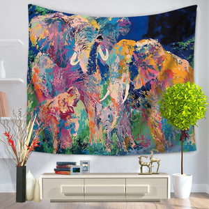 Elephant Painting Tapestry