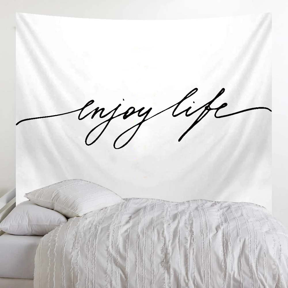 Minimalist Tapestry - Quote Enjoy Life