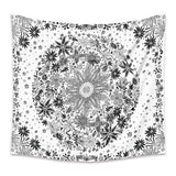 Floral White Wall Tapestry