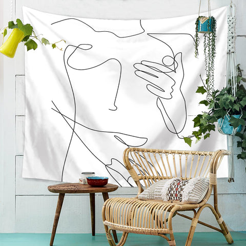 Line-Art-Wall-Tapestry
