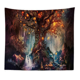 Magic Tree In The Forest Wall Tapestry