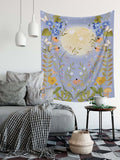 Moon Butterfly Floral Tapestry