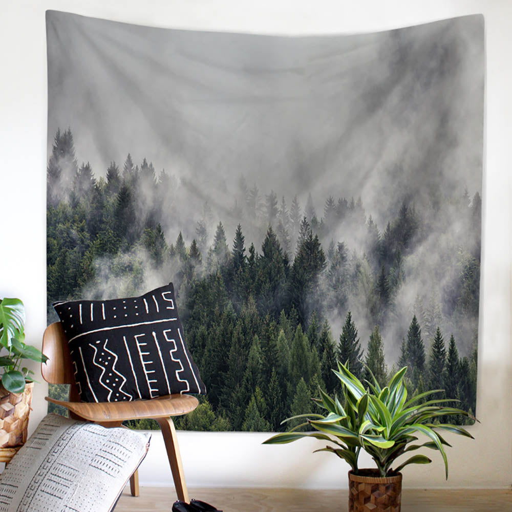 Mountain Mist Landscape Wall Tapestry - PYHQ