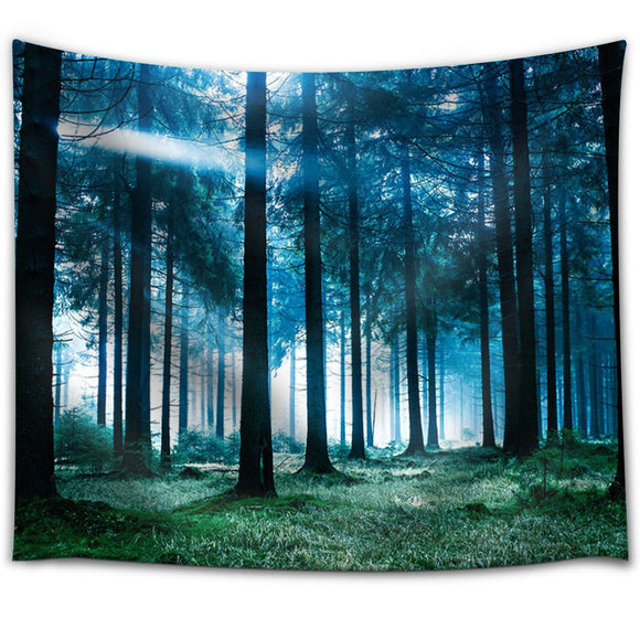 Nature-Forest-Landscape-Tapestry-Wall-Hanging-Blue-Light