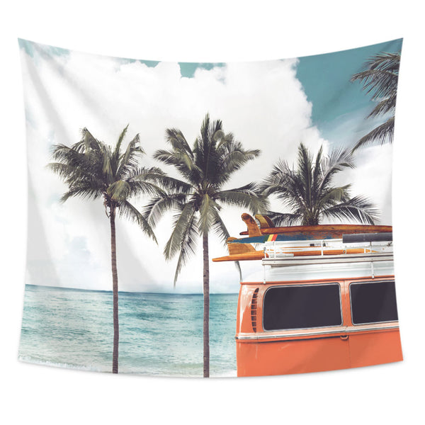 Palm Bus Tropical Tapestry