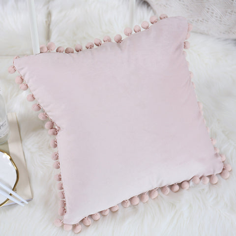 Light Pink Velvet Pillow