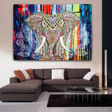 Psychedelic Elephant Tapestry | Animal Wall Decor | Best - PYHQ