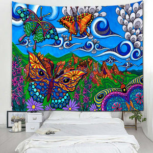 Psychedelic Trippy Wall Tapestry E
