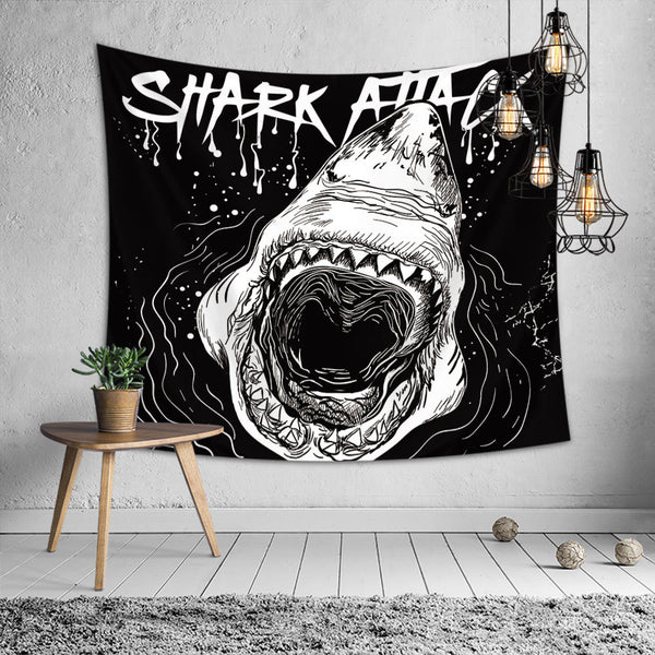Shark Attack Cool Tapestry
