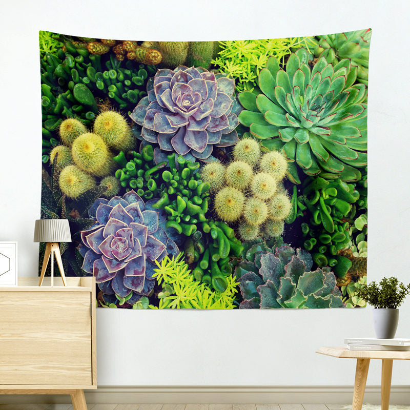 Succulents-Cactus-Tapestry-Wall-Hanging