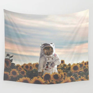 sunflower-astronaut-wall-tapestry
