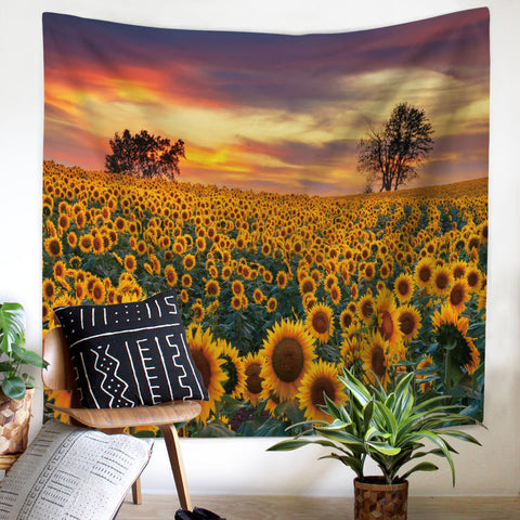 Sunset-Sunflower-Tapestry-Wall-Hanging