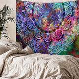 Abstract Mandala Watercolor Tapestry