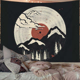 Japan Retro Mountain Wall Tapestry