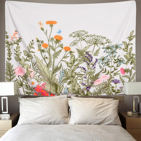 Flower Nature Floral Wall Tapestry