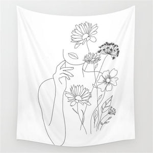 flower-girl-wall-tapestry