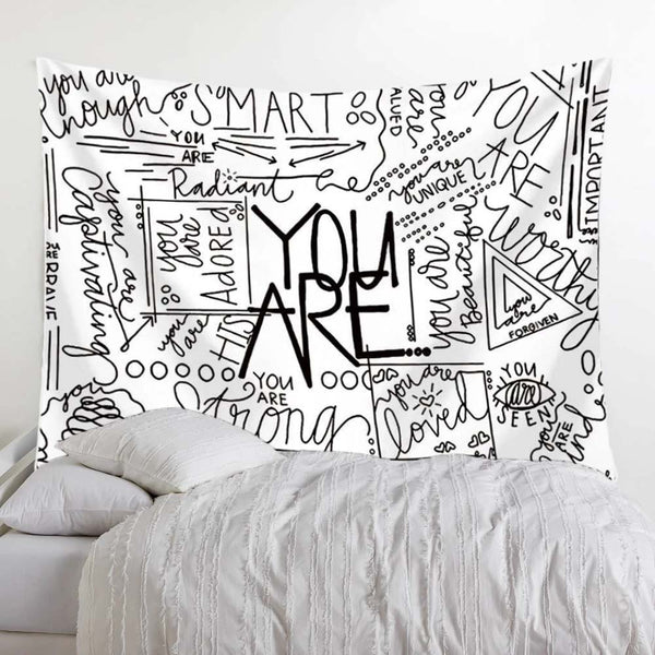 Quote You Are Wall Tapestry - Positive Vibe