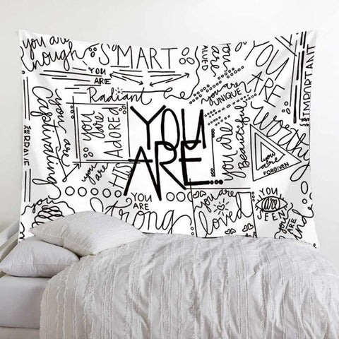 Quote You Are Wall Tapestry