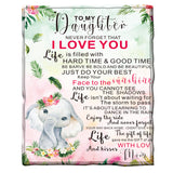 To my daughter Fleece Blanket - Cute Elephant