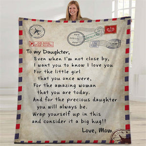To My Daughter Blanket - Gift For Daughter From Mom