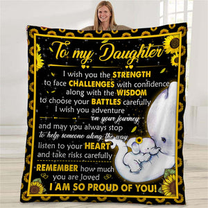 to-my-daughter-sunflower-elephant-blanket