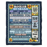 To Husband Blanket From Wife