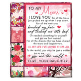 To My Mom Blanket Love,Your Daughter