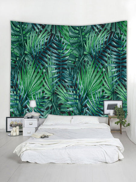 Tropical Leaves Wall Tapestry A