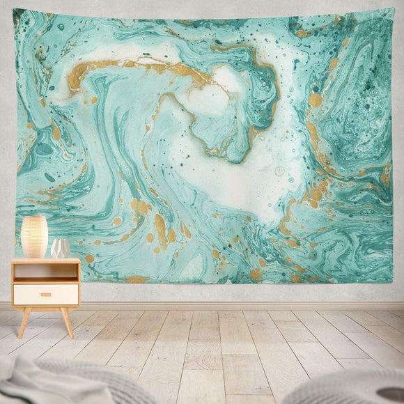 Turquoise And Golden Tapestry