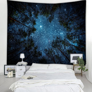 Galaxy Tree Tapestry | Under Star Sky
