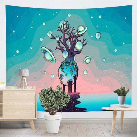 Abstract Mystery Tree Tapestry