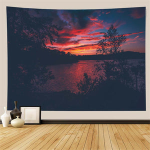 Evening Lake Tapestry