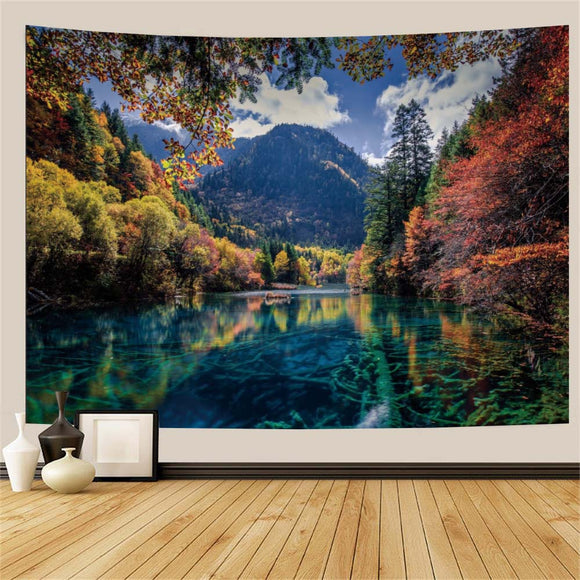 Lake Mountains Tapestry