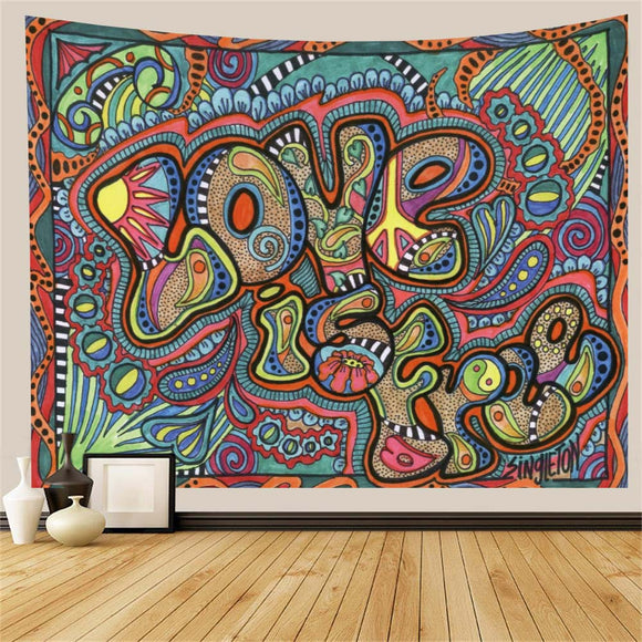 Psychedelic Hippie Wall Tapestry