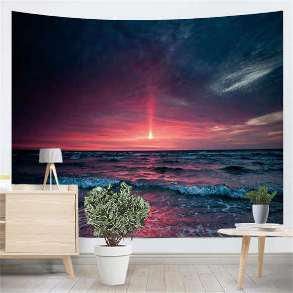 Ocean Waves Horizon Wall Tapestry