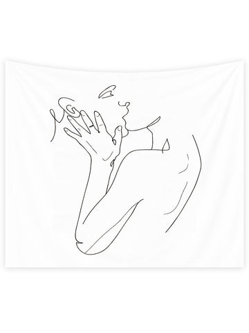 The Feeling Of You Line Tapestry