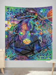 Psychedelic Woman Wall Tapestry